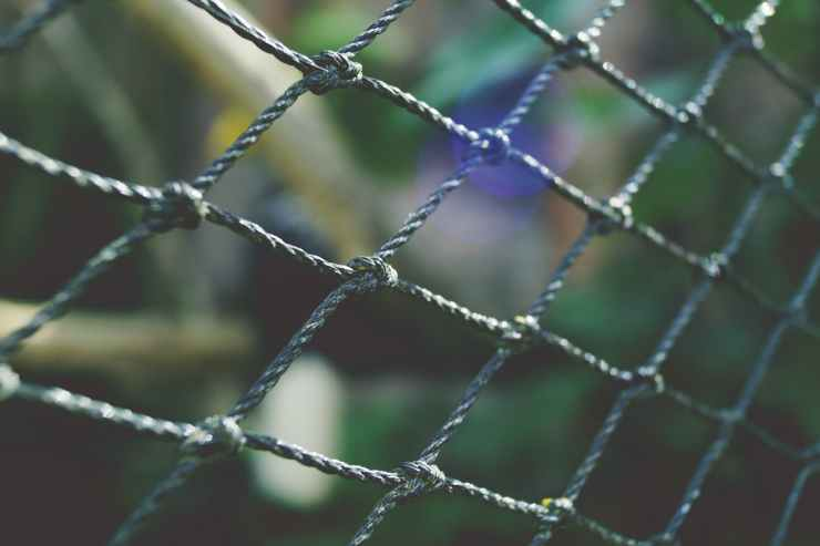 barrier bokeh cage close up